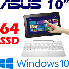 "ASUS TransformerBook T100HA 2-in-1 QUAD CORE X8500 2.24GHz 64GB 10.1"" WXGA Win10"