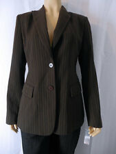 NEW CITY DKNY Pin striped Blazer/Jacket Size 4 Brown NWT