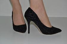 Damen High Heels  Pumps schwarz mit Pailetten  Gr. 39