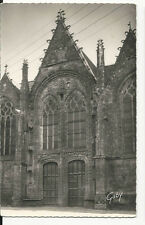 France - Brittany, Ploermel, Portail Nord de l'Eglise - Real Photo Postcard