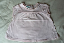 BABY GIRLS LIGHT PINK T SHIRT BLOUSE TOP 6 MONTHS SHORT SLEEVED TOP CONDITION