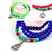 Fashion Women's Crystal Multilayer Bracelets Colorful Beads Bracelet 9Color