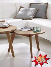Couchtisch Olpe, Wildeiche, Wohnzimmertisch, 70 cm, Stubentisch, Massivholz