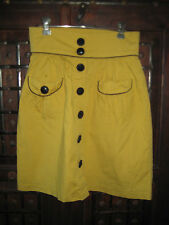 Supre Size M yellow short skirt with fancy black buttons