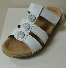 Fab Gabor white leather mules with small wedge, UK 8, RRP £65, BNWB  (2453021)