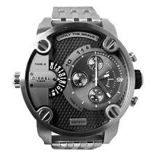 DIESEL Uhr DZ7259 LITTLE DADDY Herren Chronograph Edelstahl Armbanduhr Datum Neu