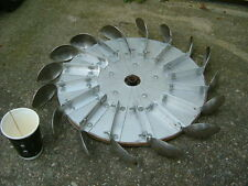 PELTON TYPE WATER WHEEL OF WATER ( HYDRO ) TURBINE 16 SPOON APPROX 600 MM DIA