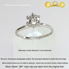 Si 0.50ct earth mined diamond 14K White Gold  Ring
