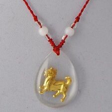 lovely vintage gold filled rhinestone dog pendant womens necklace rope chain