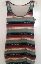 Ladies Colourful Summer Fitting Party Dress Size 10 / Medium TEMT