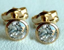 585 ECHT GOLD *** 1 Paar Zirkonia Ohrstecker 5,5 mm