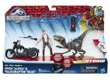 "Bnib Jurassic World Owen ""Alpha"" & Velociraptor ""Blue"" Action Figure Hybrid New"
