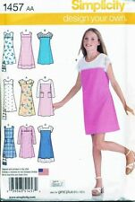 SIMPLICITY SEWING PATTERN 1457 TEENS/GIRLS SZ 8-16 EASY, PULLOVER A-LINE DRESS