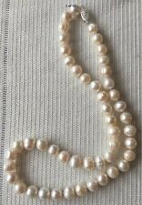 White Freshwater Pearl Necklace with 925 Sterling Silver Clasp 18.50""