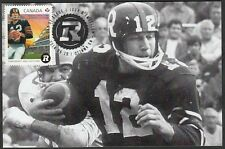 CANADA  POST # 2755 HONOURS CFL FOOTBALLER RUSS JACKSON, MAXIMUM CARD