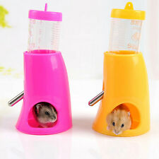 Hamster Cute Water Bottle Holder Dispenser With Base Hut Small Animal Nest New