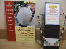 TRANQUILLITY Holistic-Hand-Made 18 inch Esoteric Gemstone Necklace plus a book.