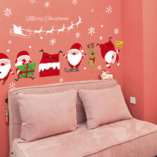 DIY Christmas Santa Claus Mural Wall Stickers Decals Bedroom Home Decor