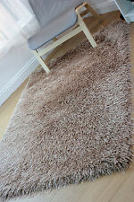 "Very Soft Touch Shaggy Thick High Pile Caramel Rug 120 x 160 cm (4'x5'3"") Carpet"