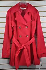 NWT Women's DKNY Hooded(Detachable) Double-Breasted Trench Coat. Size. PXL