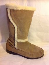 Animal Brown Mid Calf Suede Boots Size 7