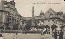 MAINZ/MAYENCE Ansichtskarte 1929, Grosse Bleiche und Neubrunnen. Rhein Kirche