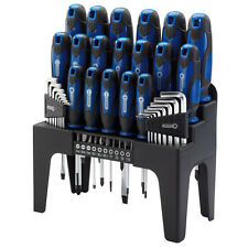 Draper Screwdriver Set with Storage Stand & Allen/Torx Key & Bit 44 Pc Tool Blue