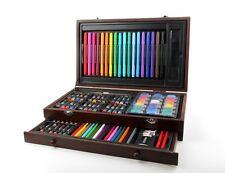 101pcs Deluxe Wooden Art Box Set Pencil Oil pastel Paint Marker Big Value Gift
