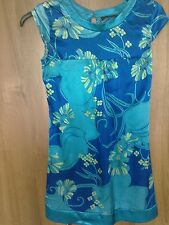 Womans Dress from Jane Norman Size 10.Blue/Yellow.Satin feel.