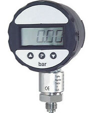 DIGITAL EDELSTAHL MANOMETER 0/250 bar mit Batterie - KLASSE 0,5