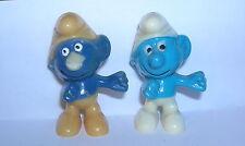EITELKEITSSCHLUMPF Variante dunkelblaue Bemalung E.D.D.S. Schlümpfe 1981 ORIG.