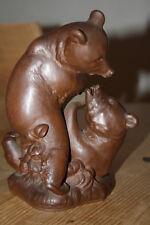 Meissen kämpfende Bärengruppe Böttgersteinzeug