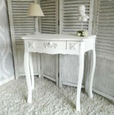 White Console Dressing Table Shabby Ornate Bedroom Vintage Furniture Chic Home