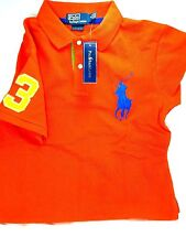 Ralph Lauren Green Orange Men Big Pony Polo