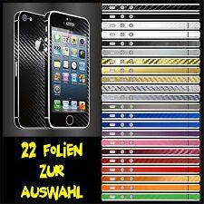 IPHONE 5 FOLIE SCHWARZ CARBON BUMPER COVER HÜLLE SCHALE SKIN CASE TASCHE