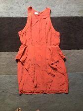 Witchery Orange Peplum Style Dress Size 16