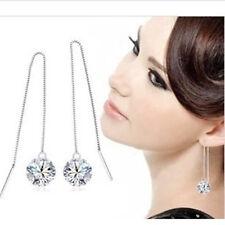 Zircon Ohrhänger Silber Silber Ohrringe rhodiniert Damen Schmuck Creolen Strass