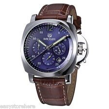 MEGIR 3006 Japan Quartz Male Watch 30M Water Resistance + Genuine Leather Band
