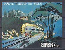 D. Eisenbahn - Lokomotiven  Grenada Grenadinen  Block 64  **  (mnh)