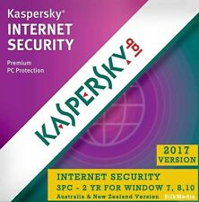 Kaspersky Internet Security 2017, 3 PC 2 Year for Window - License Key