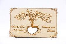 Save the Date Holz Magnet, Hochzeit Einladung, Hochzeit Karte Laser graviert