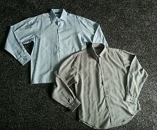 2 x mens size XL long sleeve smart shirts, blue & grey. Excellent condition
