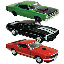 NEW (Set of 3) Legendary 1969 Muscle Car 1/32 Die Cast Models Ford Chevy Dodge