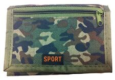 KIDS BOYS ARMY STYLE RIPPER WALLET GREEN CAMOUFLAGE *BRAND NEW*