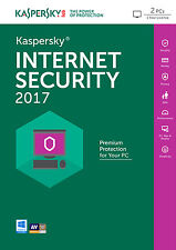 Kaspersky Internet Security 2017 2PC | 1Jahr | Download | Deutsch | Antivirus