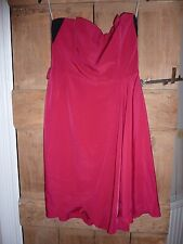 Karen Millen pink  strapless cocktail dress, prom. Size 10