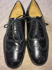Mens UK 8 /42 Marks & Spencer italian  all leather shoes brogues formal dress