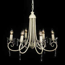 Large Modern Cream 6 Way Shabby Chic Style Ceiling Pendant Light Chandelier NEW