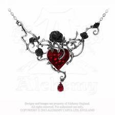 Gothic Herz Heart Rose Neo Viktorianisch Halskette Anhänger Collier ALCHEMY P630