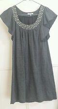 Women's Valleygirl Grey Stud Long Top/Short Dress XS